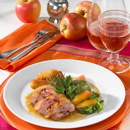 Entenbrust mit Apfelwirsing Rezept