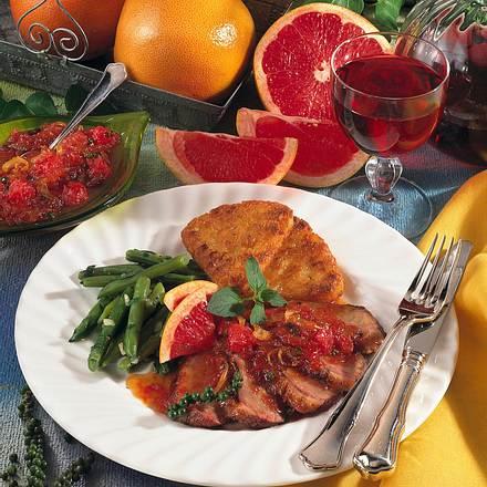 Entenbrust mit Grapefruit-Chutney Rezept