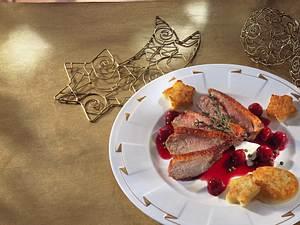 Entenbrust mit Rotwein-Kirschsoße Rezept