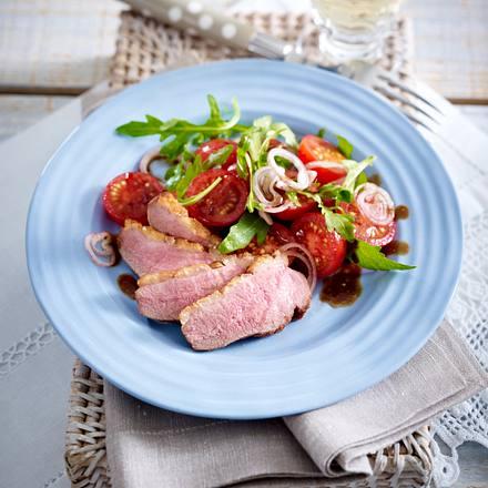 Entenbrust mit Rucola-Tomatensalat Rezept