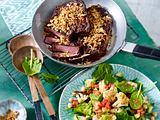 Entrecôte-Steaks mit Blumenkohlsalat und Tomaten-Salsa Rezept
