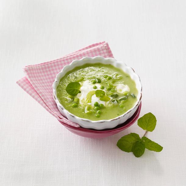 Erbsensuppe mit Minze (Flat Belly Diät) Rezept