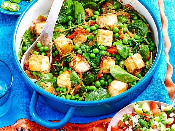 Erbsen- zählertopf  plus Turbo-Tofu Rezept