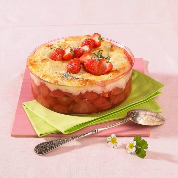 Erdbeeeren mit Grießhaube Rezept