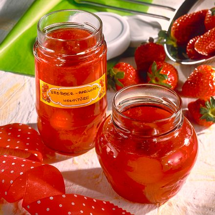 Erdbeer-Aprikosen-Konfitüre Rezept
