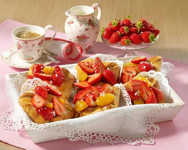 Erdbeer-Aprikosen-Kopenhagener Rezept