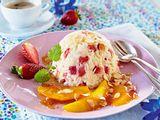 Erdbeer-Basmatireis auf Mango in Karamellsoße Rezept