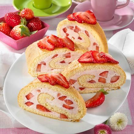 Erdbeer-Biskuit-Rolle (Diabetiker) Rezept
