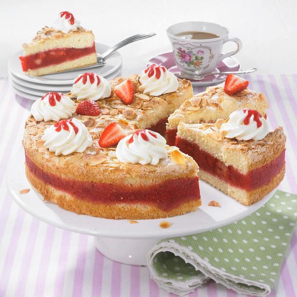 Erdbeer-Biskuit-Torte Rezept