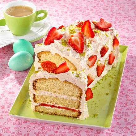 Erdbeer-Buttercreme-Sandkuchen Rezept