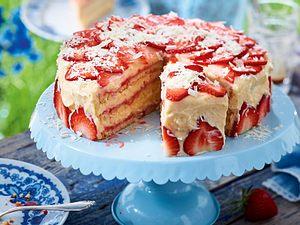 Erdbeer-Cremetorte Rezept