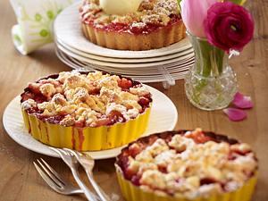 Erdbeer-Crumble-Törtchen Rezept