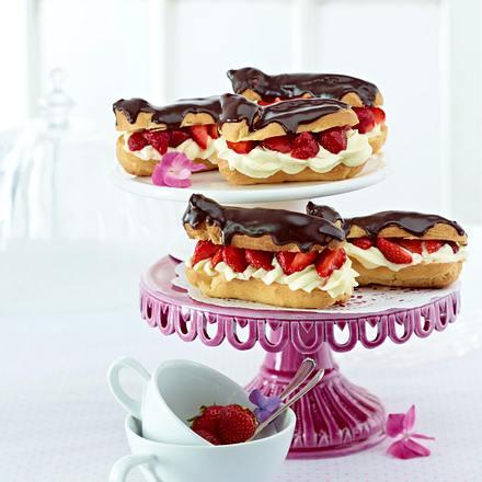 Erdbeer-Eclairs Rezept