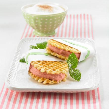 Erdbeer-Eis-Happen Rezept