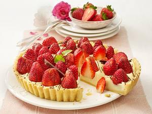 Erdbeer-Grieß-Tarte Rezept