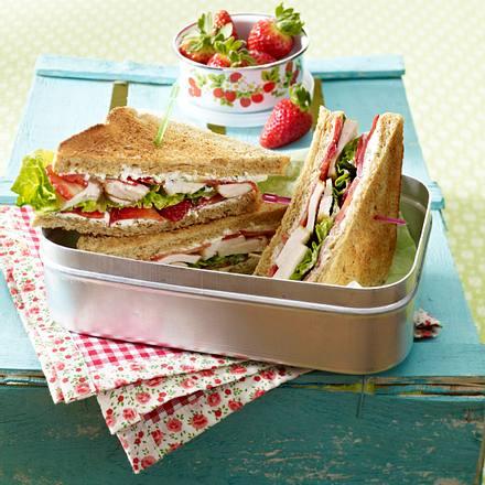 Erdbeer-Hähnchen-Sandwich Rezept