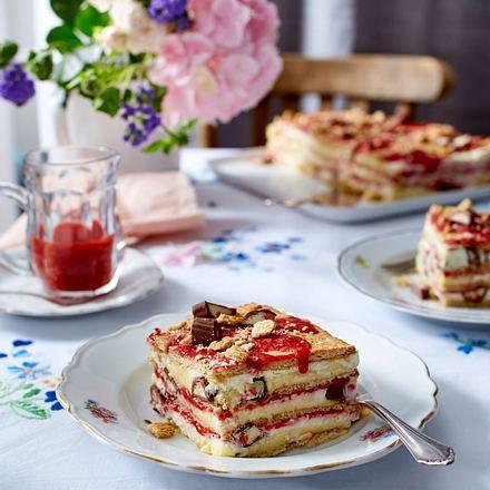 Erdbeer-Keks-Schnitten Rezept