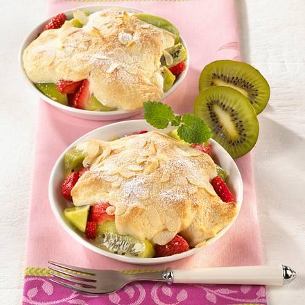 Erdbeer-Kiwi-Gratin mit Mandelschaum  Rezept