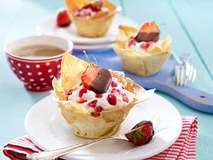 Erdbeer-Körbchen Rezept