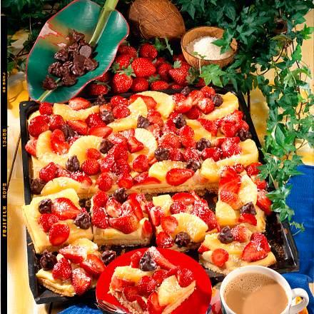 Erdbeer-Kokos-Kuchen mit Ananas Rezept