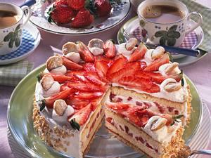 Erdbeer-Mandeltorte Rezept