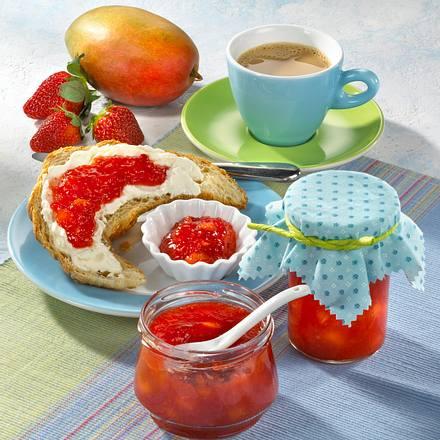 Erdbeer-Mango-Marmelade mit Ingwer Rezept