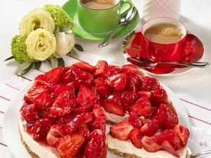 Erdbeer-Mascarpone-Kuchen (ohne Backen) Rezept