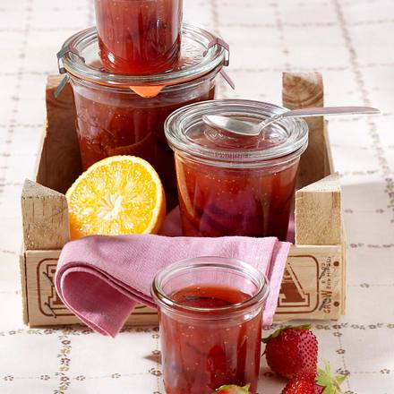 Erdbeer-Orangen-Konfitüre Rezept