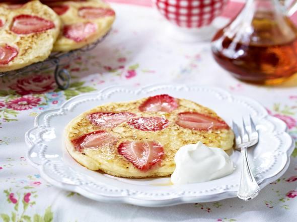 Erdbeer-Pancakes Rezept