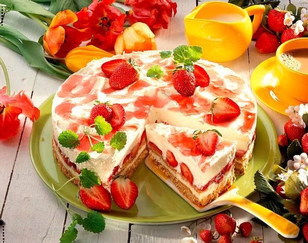 Philadelphia Torte Rezept : erdbeer philadelphia torte rezept ~ Lizthompson.info Haus und Dekorationen