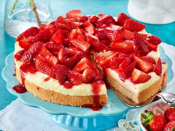 Erdbeer-Pudding-Kuchen Rezept