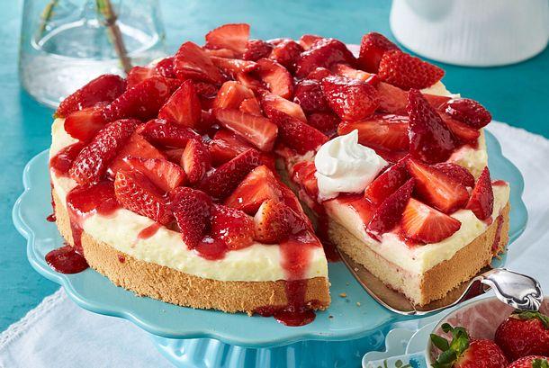 Erdbeer-Pudding-Kuchen