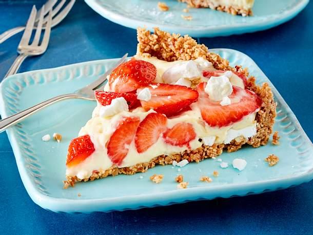 Erdbeer-Pudding-Kuchen ohne Backen Rezept