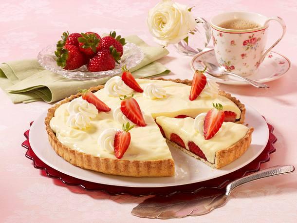 Erdbeer-Pudding-Tarte Rezept
