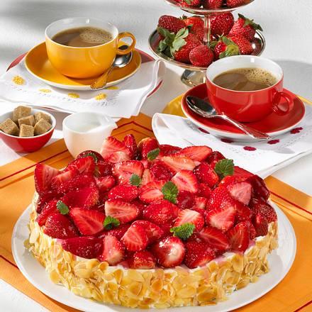 Erdbeer Quark Kuchen Rezept Lecker