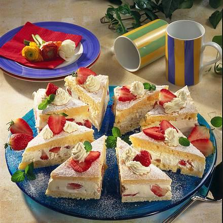 Erdbeer-Quark-Schnitten Rezept