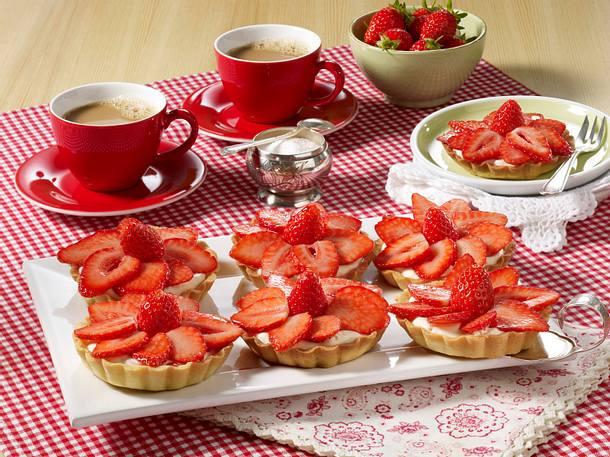 Erdbeer-Quark-Torteletts Rezept