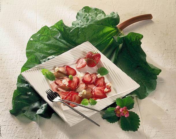 Erdbeer-Rhabarber-Carpaccio Rezept