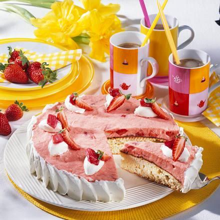 Erdbeer-Rhabarber-Torte Rezept