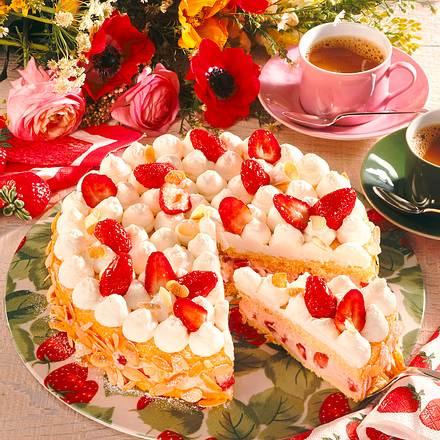 Erdbeer-Sahne-Creme-Torte Rezept