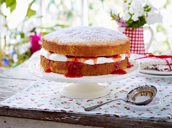Erdbeer-Sahne-Kuchen Rezept