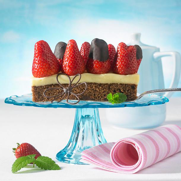 Erdbeer-Schoko-Schnitten Rezept