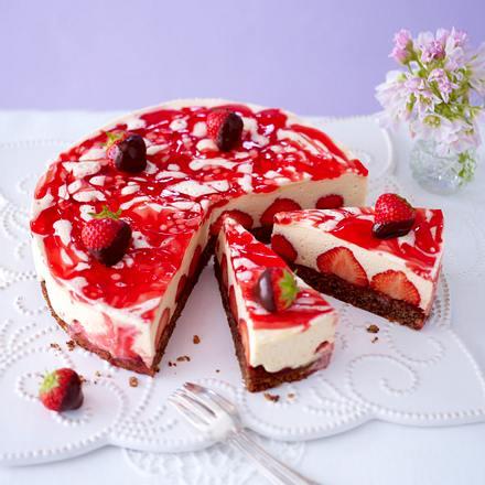 Erdbeer-Schoko-Zabaione-Torte Rezept