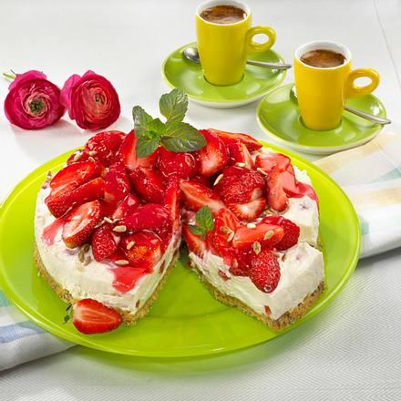Erdbeer-Sekt-Käsekuchen Rezept
