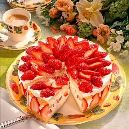 Erdbeer-Sekt-Torte Rezept