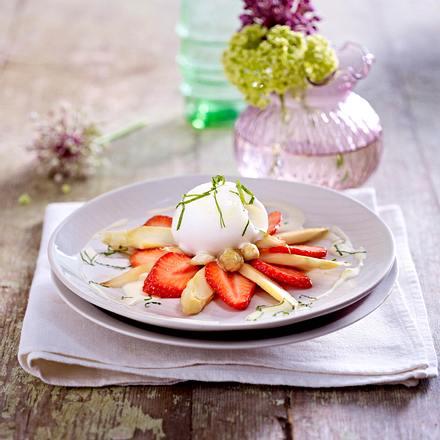 Erdbeer-Spargelsalat mit Zitronensorbet Rezept