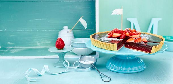 Erdbeer-Tarte mit Ganache Rezept