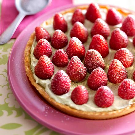 Erdbeer-Tarte mit grünem Tee Rezept