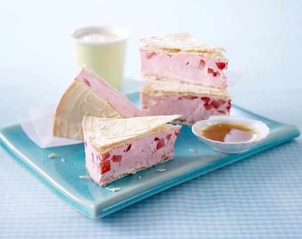 Erdbeer-Toffee-Eis-Sandwich Rezept