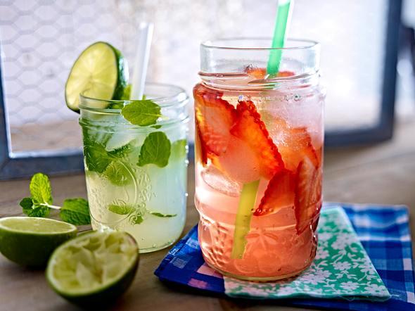 Erdbeer- und Minz-Limetten-Drink Rezept
